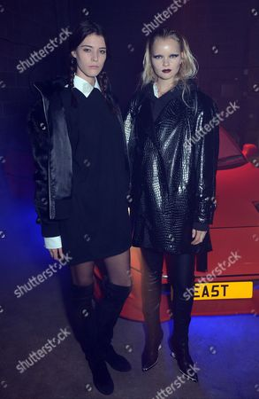 Stock Picture of Linde Derickx and Carla Ciffoni