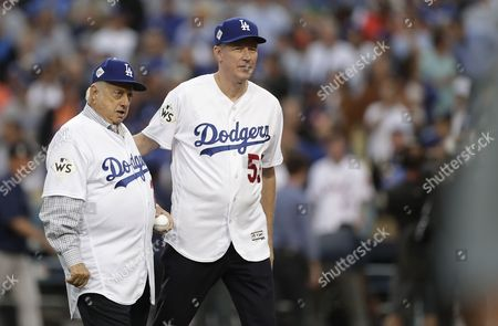 Stock Picture of Orel Hershiser and Tommy Lasorda