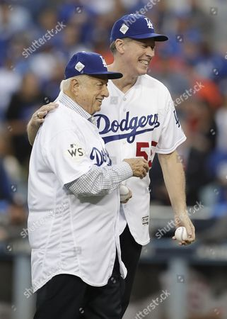 Stock Image of Orel Hershiser and Tommy Lasorda