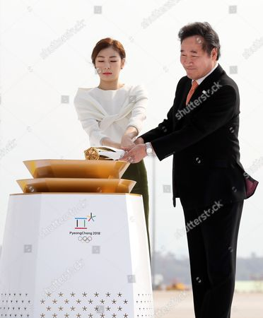 Editorial image of Olympic flame for PyeongChang Olympics arrives in South Korea, Incheon - 01 Nov 2017