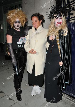 Jaime Winstone, Jade Jagger and Fran Cutler