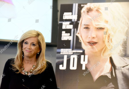 IMAGE DISTRIBUTED FOR TWENTIETH CENTURY FOX HOME ENTERTAINMENT - Joy Mangano, entrepreneur and inspiration for the movie JOY, speaks to employees of Twitter, in New York, during an event to announce the release of the movie on Blu-ray and DVD on May 3 from Twentieth Century Fox Home Entertainment