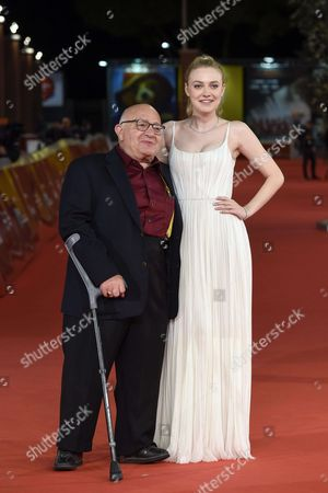 """Dakota Fanning and director Ben Lewin attend the red carpet of the movie """"Please stand by"""" at the Rome Film Festival 2017 Photo ' Fabio Mazzarella/Sintesi//SINTESI_SINTESI1145013/Credit:Fabio Mazzarella/SINTESI/SIPA/1711011150"""