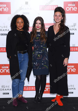 Stock Image of Rosalind Eleazar, Philippa Coulthard and Bessie Carter