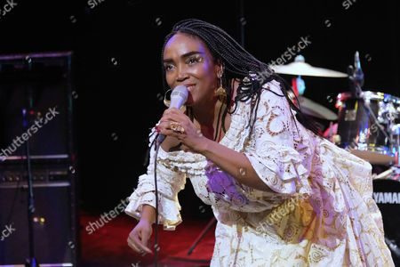Editorial picture of Emeline Michel in concert at Centre Walonnie Bruxelles, Paris, France - 26 Sep 2017