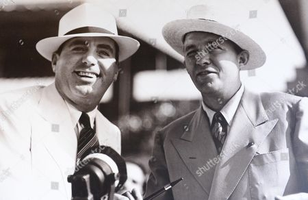 . BREEDERS CUP DEL MAR. BING CROSBY (right) and PAT O'BRIEN founders of the track at the inagural race meeting on July 3rd 1937.