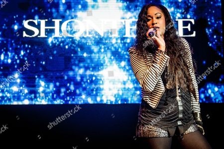 Editorial photo of Shontelle in concert at the O2 Shepherds Bush Empire, London, UK - 31 Oct 2017