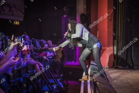 Editorial image of Shontelle in concert at the O2 Shepherds Bush Empire, London, UK - 31 Oct 2017