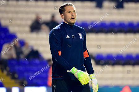 Birmingham City goalkeeper Tomasz Kuszczak (29) during the EFL Sky Bet Championship match between Birmingham City and Brentford at St Andrews, Birmingham