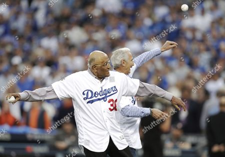 Don Newcombe and Sandy Koufax