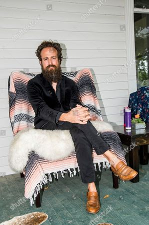 Stock Photo of Samuel Beam. Iron & Wine poses during the Pilgrimage Music & Cultural Festival, in Franklin, Tenn