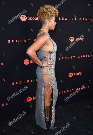 Kelis arrives at the Secret Genius Awards at Vibiana, in Los Angeles