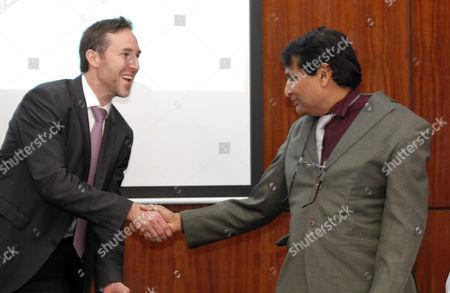 Suresh Prabhu and Augusto Arosemena