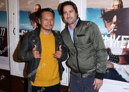 "Takuji Masuda, Luke Wilson. Takuji Masuda, left, and Luke Wilson arrive at the LA Premiere of ""Bunker77"", in Santa Monica, Calif"