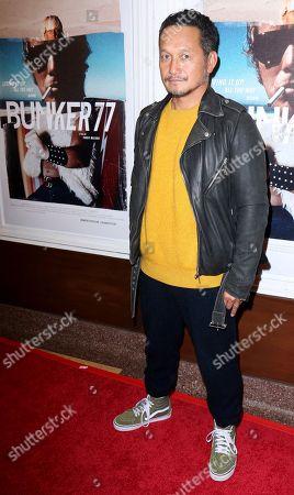 """Takuji Masuda arrives at the LA Premiere of """"Bunker77"""", in Santa Monica, Calif"""