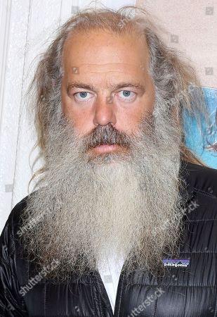 """Stock Image of Rick Rubin arrives at the LA Premiere of """"Bunker77"""", in Santa Monica, Calif"""
