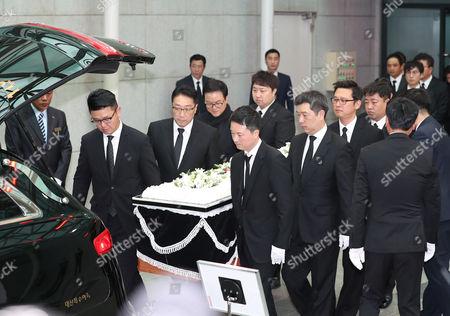 Editorial image of Funeral for actor Kim Joo-hyuk held in Seoul, Korea - 02 Nov 2017