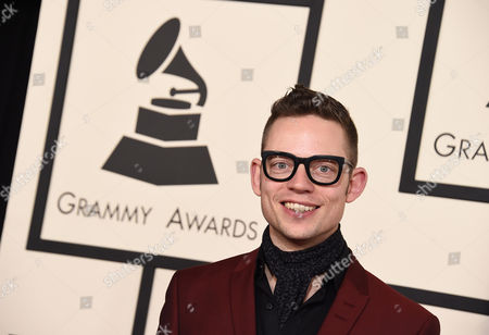 Jarle Bernhoft arrives at the 57th annual Grammy Awards at the Staples Center, in Los Angeles