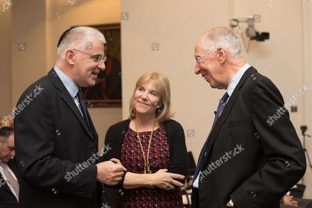 Ambassador Daniel Taub with Lord Jacob Rothschild.