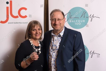 Charity activist Laura Marks with her husband, comedy writer Dan Patterson.