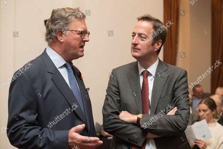 Lord Roderick Balfour with Ambassador David Quarrey