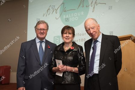 Stock Picture of Lord Roderick Balfour with Lady Tessa Balfour, and Lord Jacob Rothschild.