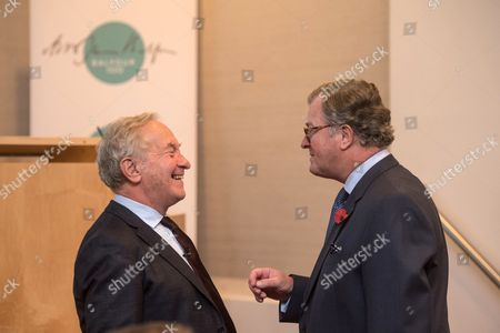Simon Schama with Lord Roderick Balfour.