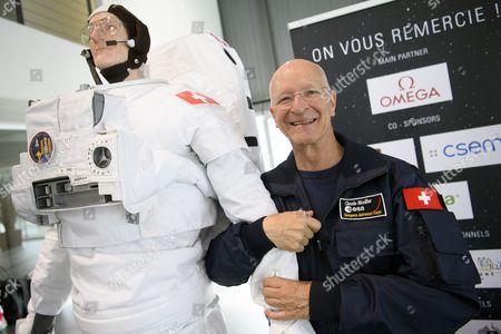 Editorial image of Swiss Astronaute Claude Nicollier attends a press conference of Swissappolo, Crissier, Switzerland - 02 Nov 2017