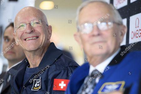 Editorial picture of Swiss Astronaute Claude Nicollier attends a press conference of Swissappolo, Crissier, Switzerland - 02 Nov 2017