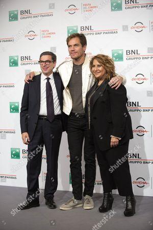 Michael Shannon and Director Jennifer Lebeau with (right) Artistic Director of Festival Antonio Monda