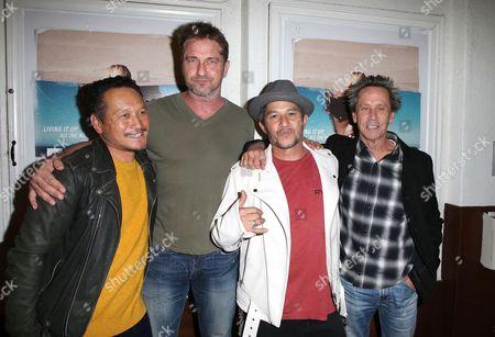 Stock Image of Takuji Masuda, Gerard Butler, Christian Hosoi, Brian Grazer
