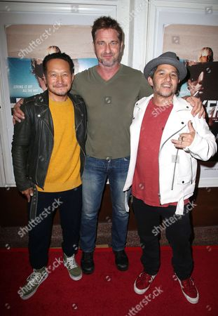 Stock Photo of Takuji Masuda, Gerard Butler, Christian Hosoi