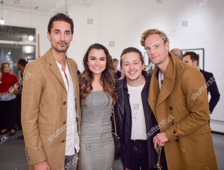 Stock Picture of Hugo Taylor, Samantha Barks, Luke Friend and Jack Fox