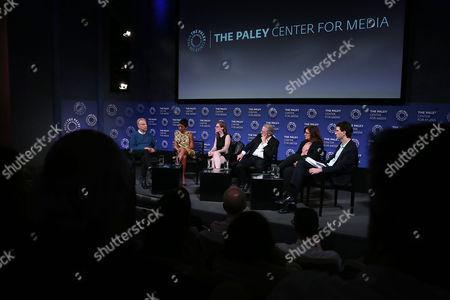 Marc Smerling, Tamron Hall, Erin Lee Carr, Rene Balcer, Kahane Cooperman, Edward Skyler