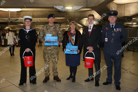 Minister for Defence Procurement, Harriett Baldwin at Westminster station