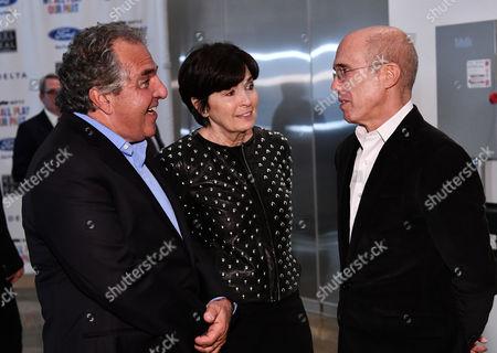 Jim Gianopulos, Marilyn Katzenberg and Jeffrey Katzenberg