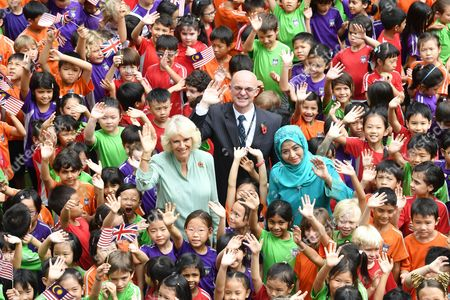 Stock Image of Camilla Duchess of Cornwall and Raja Zarith Sofiah at The International School Parkcity