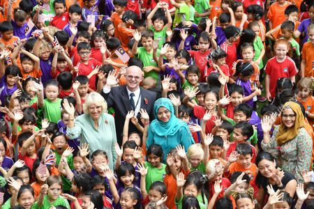 Camilla Duchess of Cornwall and Raja Zarith Sofiah at The International School Parkcity