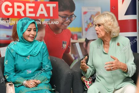 Raja Zarith Sofiah and Camilla Duchess of Cornwall at The International School Parkcity