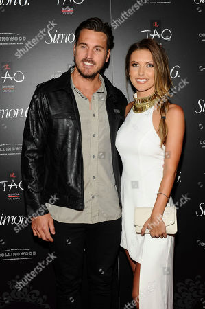 Corey Bohan and Audrina Patridge arrive at the annual Simon G Soiree at TAO in Las Vegas. E! News reports the couple married on in Hawaii