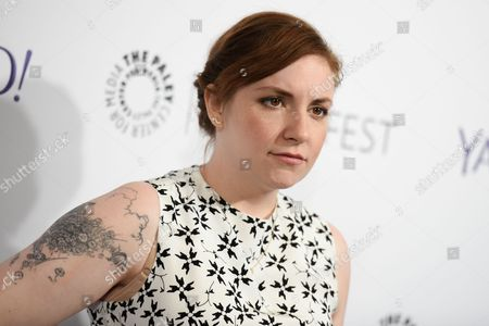 """Lena Dunham arrives at the 32nd Annual Paleyfest : """"Girls"""" held at The Dolby Theatre in Los Angeles. Dunham is mourning the death of actor Nick Lashaway, who appeared in an episode of Dunham's, Girls. In an Instagram post on May 11, 2016, Dunham called Lashaway """"a talented, funny and kind person.â"""