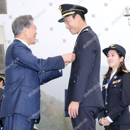 Moon Jae-in and Jung Woo-sung