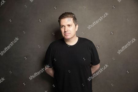 Pasquale Rotella poses for a portrait at Quaker Good Energy Lodge with GenArt and the Collective, during the Sundance Film Festival, on in Park City, Utah