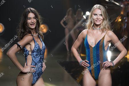 Estela Grande and Lotta Korkala on the catwalk
