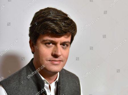 Editorial photo of Gaspard Koenig photoshoot, Paris, France - 02 Nov 2017
