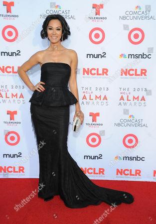 Jael de Pardo arrives at the 2013 NCLR ALMA Awards at Pasadena Civic Auditorium in Pasadena, CA on