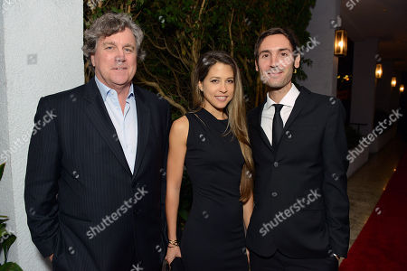 Sony Pictures Classics Tom Bernard, Brittany Huckabee and Malik Bendjelloul attend the Sony Pictures Classics Pre-Oscar Dinner at The London Hotel on in West Hollywood, California