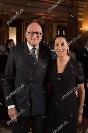 Lloyd Dorfman with his wife Sarah Dorfman.