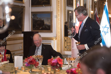 Editorial picture of Centenary of The Balfour Declaration state banquet, London, UK - 02 Nov 2017