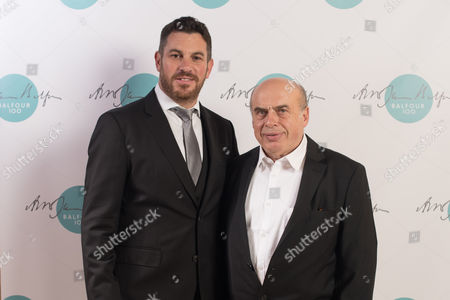 Paul Charney, Chairman of the Zionist Federation, with Natan Sharansky.